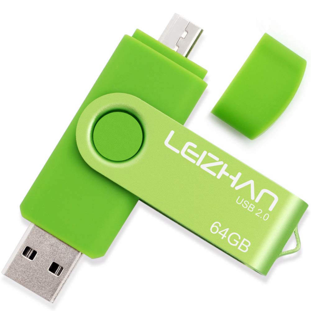 LEIZHAN Pen Drive Chiavetta USB 32GB Memoria Stick OTG(On the Go) 2 in 1(Micro USB & USB 2.0) Flash Drive Supporto Telefono Android Tablet PC Blu Winstone 14276403