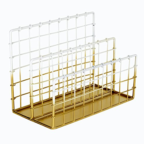 (C.R. Gibson Wire Mesh File Holder, Two Tone Metallic, Measures 7.75