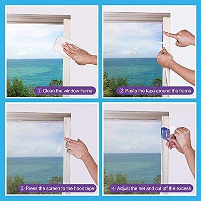 Moustiquaire Pour Fenêtre 3 Paquets Jit Fung Moustique Insect Mesh 13 Mx 155 M Avec 3 Rubans Adhésifs 20 Pro Noir