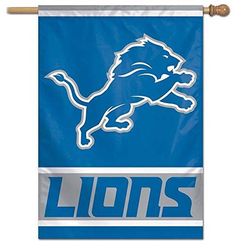 Bandeira Vertical 70x100 Logo Team Detroit Lions