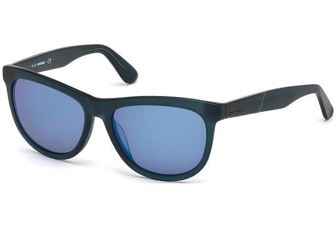 Gafas de sol Diesel DL0191 C55 91X (matte blue / blu mirror ...