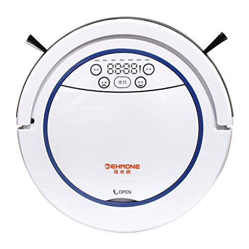 EHMONE Robot Vacuum Cleaner for Pets and Allergies Home with Mop White 510W