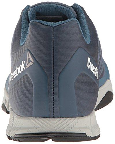 Reebok Uomo Crossfit Speed Tr Cross-trainer Scarpa Coraggioso Blu / Teschio Grigio / Nero / Bianco / Peltro