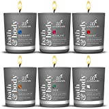 ArtNaturals Scented Candle Gift Set – (6 x 2 Oz/60g) - Aromatherapy Set of Fragrance Soy Wax - Made in USA with Essential Oils – for Stress Relief and Relaxation