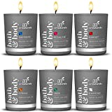 #7: ArtNaturals Scented Candle Gift Set – (6 x 2 Oz/60g) - Aromatherapy Set of Fragrance Soy Wax - Made in USA with Essential Oils – for Stress Relief and Relaxation
