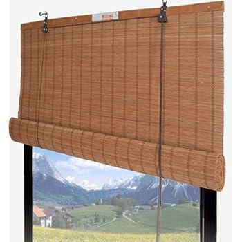 bamboo roll up window blind sun shade w30 x h72 home