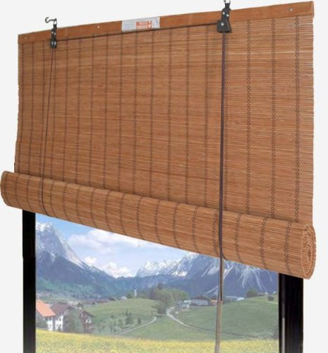 Amazoncom Bamboo Roll up Shade Window Blind 48 W X 72 H 67