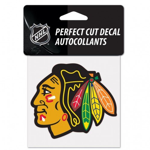 WinCraft NHL Chicago Blackhawks 21863010 Perfect Cut Color Decal, 4