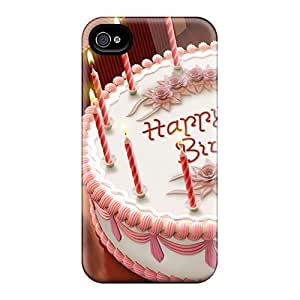 For Iphone 4/4s Protector Case Happy Birthday Widescreen Phone Cover by mcsharksby Maris's Diary