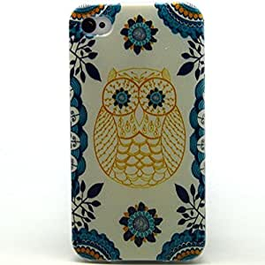 Jaholan Owl Totem Clear Edge TPU Soft Case Rubber Silicone Skin Cover for iphone 5S 5