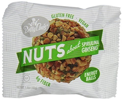 Balls Ginseng Spirulina (Betty Lous Gluten Free Nut Butter Balls - Spirulina Ginseng (pack of 12))