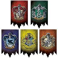 FomCcu Banderas de pared de Hogwarts Banderas