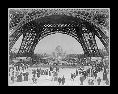 8 x 10 All Wood Framed Photo Eiffel Tower - World's Fair 1889