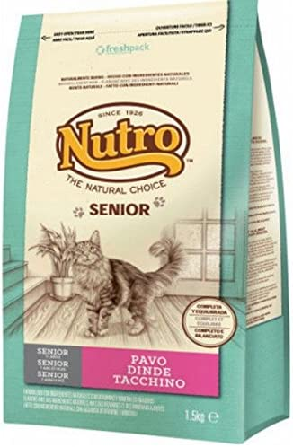 NUTRO - Pienso para Gatos Senior Pavo 1,5 kg: Amazon.es: Productos ...
