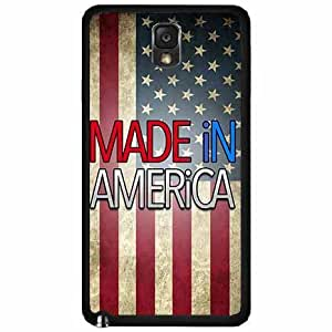 Made In America TPU RUBBER SILICONE Phone Case Back Cover Samsung Galaxy Note III 3 N9002 by icecream design