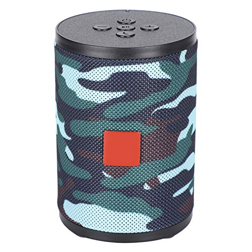 01 Cylindrical 10m Connection DC 5V Lightweight Intelligent Speaker, Camouflage Style Wireless Speaker, Portable for…