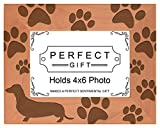 Gifts For All By Rachel Olevia Dog Lover Gift Dachshund Weiner Dog Prints Natural Wood Engraved 4x6 Landscape Picture Frame Wood