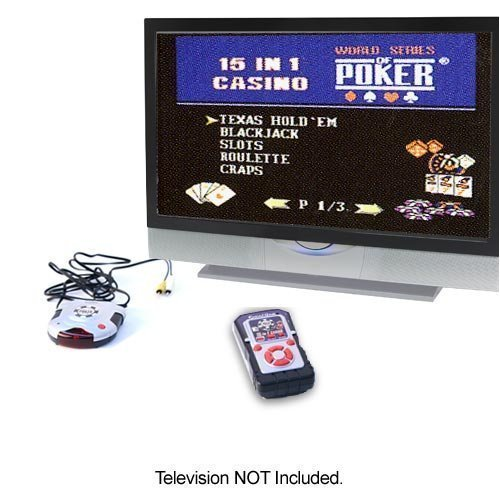 World Series of Poker Wireless Plug & Play 15-in-1 TV Game (Excalibur Handheld Games)