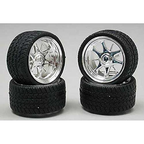 Pegasus Hobbies 1226 1/24-1/25 Daggars Chrome Rim/Tires (4)