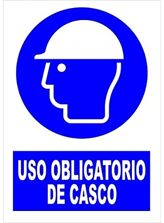 Cartel PVC 40x30 Uso obligatorio de casco