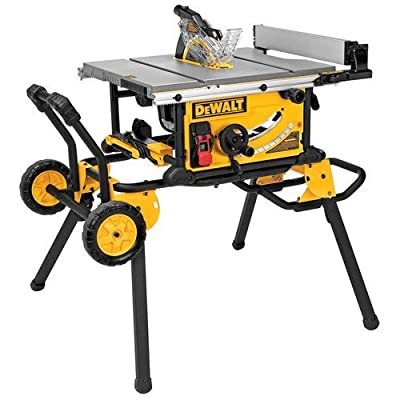 DEWALT DWE7499GD 10-Inch Jobsite Table Saw with Rolling Stand and Guard Detect