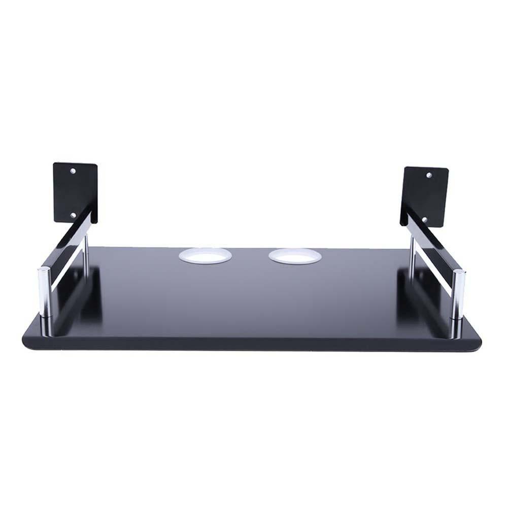 mikolotuk É tagè re de stockage en aluminium pour support de rangement Monocouche noir