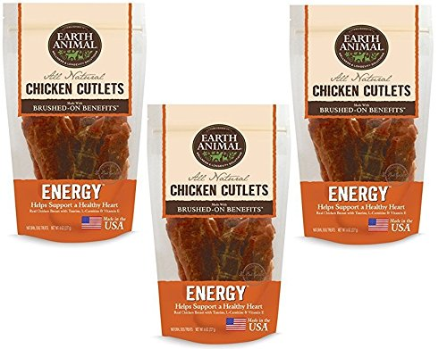 (3 Pack) Earth Animal Chicken Cutlets Energy Immune Heart 8oz