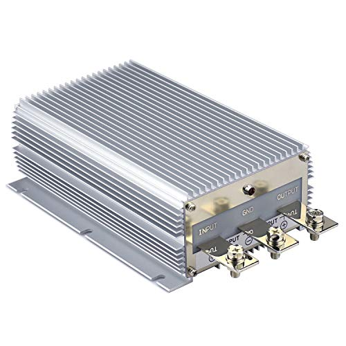 Cllena Waterproof DC/DC 12V to 24V Boost Converter 40A 960W Step Up Voltage Regulator Module Car Power Supply Voltage Transformer (Input 10V-16V) 40a Dc Power Supply