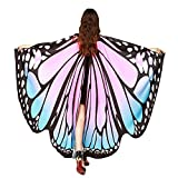 Fairy Wings Butterfly Wings, Soft Fabric Butterfly Wings Shawl Scarf Fairy Pixie Costume Accessory for Party Show (Pink)