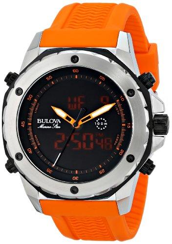 Bulova Men's 98C118 Analog-Digital Display Japanese Quartz Orange Watch ()