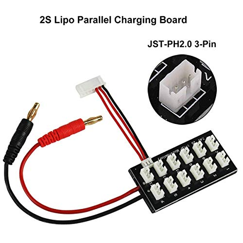 (Innovateking 2S 7.4V LiPo Parallel Charging Board JST-PH2.0 3-Pin 4.0mm Banana Plug 2S LiPo Battery Charge Board for Balance Charger Imax B6 etc)