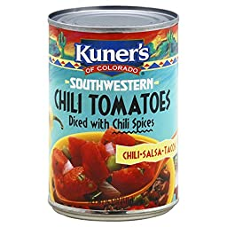 Kuner\'s Tomatoes and Jalapenos, 14.5-Ounce (Pack of 12)
