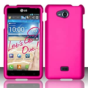 For LG Spirit 4G MS870 (MetroPCS) Rubberized Cover - Rose Pink