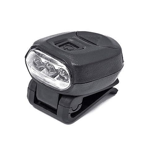 JiuRong Luce a Cappello ruotabile a 360 Gradi Clip su Torcia per elmetto Protettivo Faro a LED Leggero per Pesca Corsa Campeggio Ciclismo Camminata Escursionismo