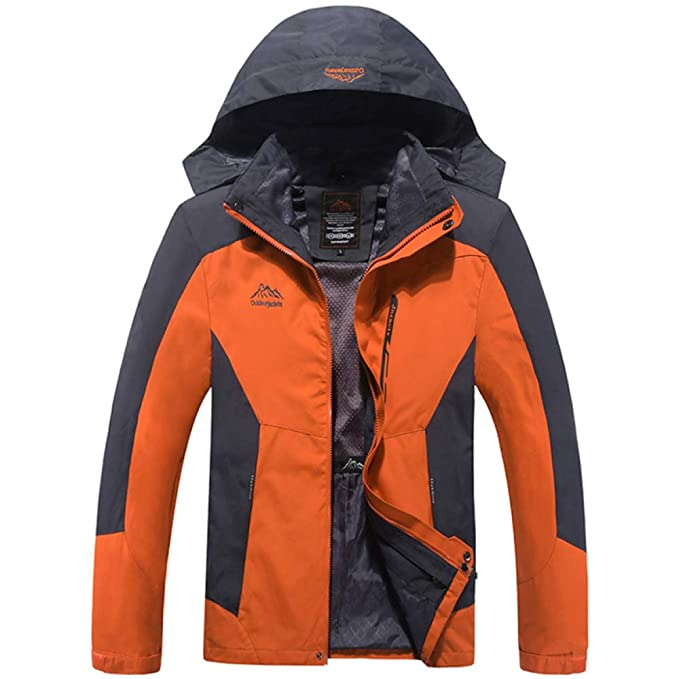 FCBDXN Ropa De Hombre Mountain Jacket 3 En 1 Keep Warm Coats Chaquetas De Excursionismo Al Aire Libre Chaqueta De Snowboard Abrigo De Montañismo ...