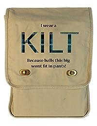 Tenacitee I Wear a Kilt Putty Canvas Field Bag