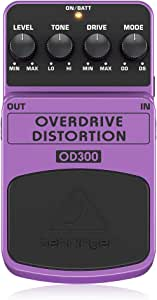 Behringer OD300 2-Mode Overdrive/Distortion Instrument Effects Pedal,Purple