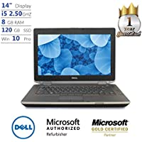 "Dell Latitude E6420, Core i5, 8GB, 120GB SSD, 14"" Display, Win 10 Pro Laptop (Certified Refurbished)"