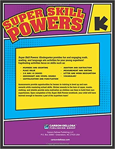 Super Skill Powers, Grade K: Thinking Kids, Carson-Dellosa ...
