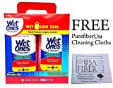Wet Ones Anti Bacterial Hand Wipes with Wet Lock Seal 180 Wipes