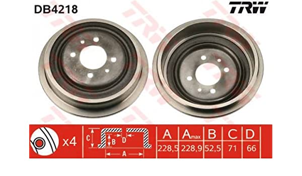 TRW Automotive AfterMarket DB4218 tambor de freno: Amazon.es: Coche y moto