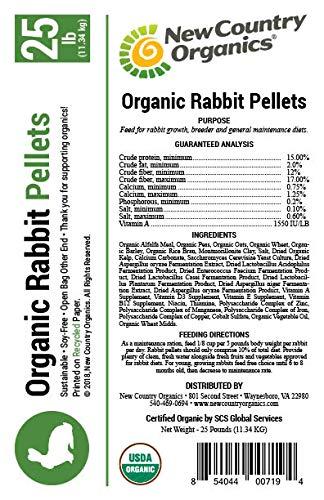 New Country Organics Soy Free Rabbit Feed Pellets, 25 lbs