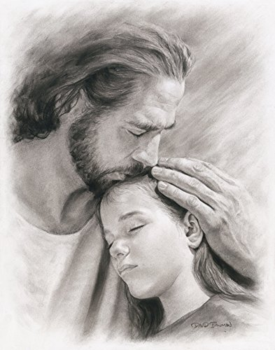 My Child Wall Art Print Jesus Christ Kissing Child by David Bowman Religious Spiritual Christian Fine Art (Religious Prints)