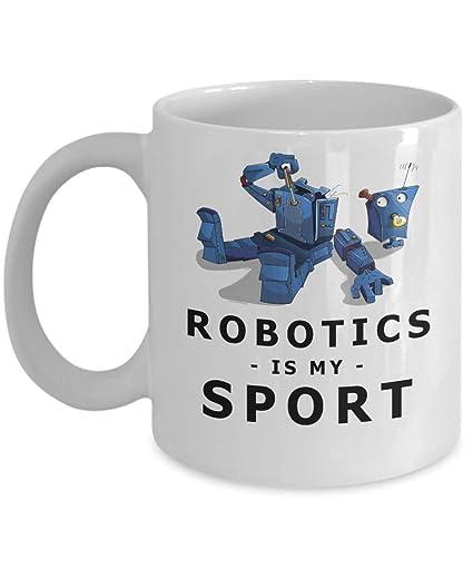 Amazon Com Robotics Is My Sport Mugs 11 Oz Ceramic White Coffee