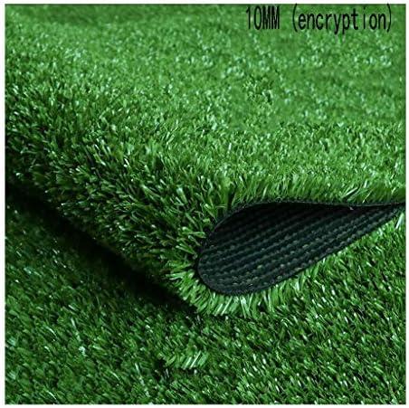 XEWNEG パイルの高さ10 MM、暗号化された緑の人工芝、ガーデンシミュレーション合成芝生カーペットマット、屋内/屋外の装飾は接合可能、フェードなし (Size : 2x2M)