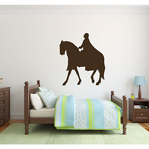 Horse Wall Decals, Prince Riding Stallion Silhouette Vinyl