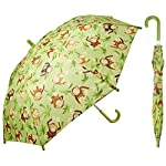 Childrens Monkey Green Umbrella for Boys 32 inch - by Adjore
