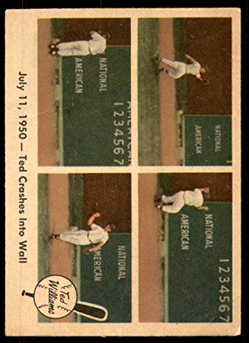 1959 Fleer #40 Ted Crashes Into Wall G-VG Red Sox ()
