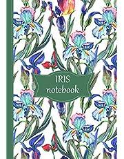 Iris Notebook: White Cover