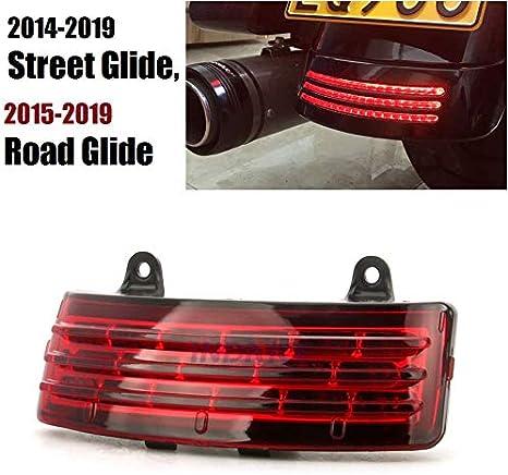 Schutzblech Red Tri Bar Light Upgrade Für Harley 2015 2019 Road Glide Fltrx 2014 2019 Street Glide Flhx Rücklicht Auto
